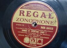 78 rpm HENRY CROUDSON paramount theatre organ , SONGS AT EVENTIDE 1&2