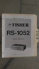 Fisher rs-1052 service manual original repair book stereo receiver tuner radio