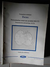 Ford FOCUS : documentation atelier transmission automatique 4F27E - 1999 CG7748