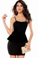 Schößchenkleid Spitze Cocktail Abendkleid Mini XS S M 34 36 38  Partykleid