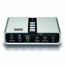 SWEEX (SC016) 7.1 EXTERNAL USB SOUNDCARD, SPDIF IN AND OUT, BUS POWERED, RETAIL