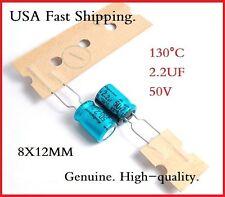 (12Pcs) 2.2Uf 50V Rubycon Radial Electrolytic Capacitor 50V2.2Uf Rx30 130°C