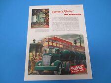 """1948 GMC Trucks Portable """"Pipeline"""" For Penicillin General Motos Corp  PA001"""