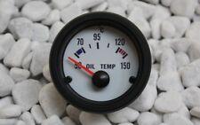 ÖL Temperatur Anzeige WEISS 52mm Retro Look 16V G60 G40 VR6 TURBO S2 GT + GEBER