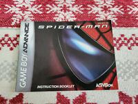 Spider-Man - Authentic - Nintendo Game Boy Advance - GBA - Manual Only!