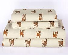 Twin, Full, Queen or King Cat Kitten Sheet Set Microfiber Pet Animal Lover Gift