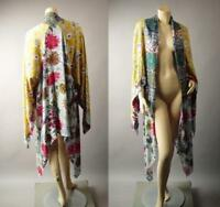 Japanese Floral Pattern Patchwork 1920s Long Duster Caftan Kimono 272 mv Jacket