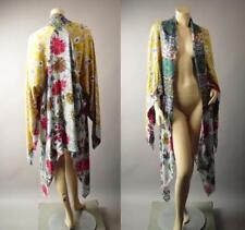 Japanese Floral Pattern Patchwork 1920s Long Duster Caftan Kimono 272 mv Jacket