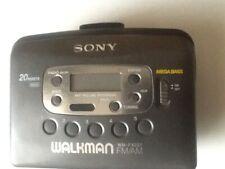 Sony Walkman Digital Am/Fm Radio Cassette Clock Auto Reverse Wm-Fx227 Tested.