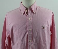 NEW Ralph Lauren Long Sleeve Button Down Oxford Shirt MENS LARGE Pink Cotton
