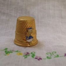 Vintage Gold Tone Donald Duck Walt Disney Thimble Sewing Collectible