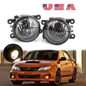 Fog Light For Subaru Impreza 2012-2014 PAIR Bumper Replacement Clear Lens L/R US
