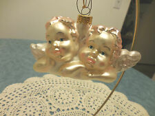"New listing Blown Glass Cherub Angel Christmas Ornament New 5"""