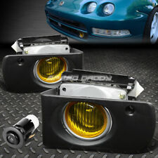For 94-97 Acura Integra Dc Dc2 Front Bumper Fog Light Lamp W/Bezel+Switch Amber (Fits: Acura Integra)