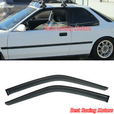 JDM Style Side Window Visors Fits 90-93 Honda Accord 2dr