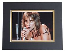 Rod Stewart Signed Autograph 10x8 photo display Faces Music AFTAL COA