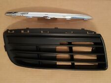 2PC Set 2005-2010 JETTA Front Bumper PASSENGER Grille Bezel & Chrome Molding NEW