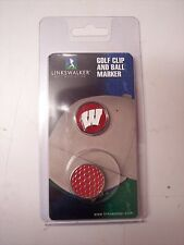 Wisconsin Badgers Golf Hat Clip Round Ball Marker NEW