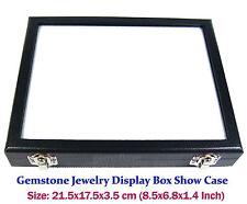 TOP GLASS DISPLAY BOX SHOW CASE JEWELRY ORGANIZER GEM DIAMOND 8.5x6.8 INCH No#28