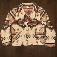 RARE Rhonda Stark Aztec Blazer Womens S Small 100% Cotton NWOT MINT Western