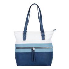 Tom Tailor Marit Shopper Tasche Handtasche Damen 30 cm (blau)