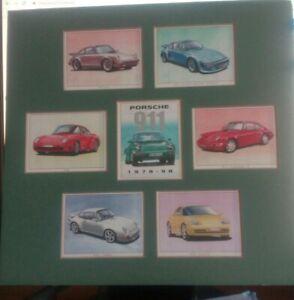 Trade Cards Golden Era Porsche 911 , 1978 -1998 in green Mount