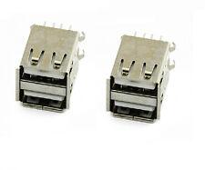 2PCS DOUBLE USB A FEMALE SOCKET PCB MOUNT Soldering