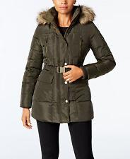 917a1e5ef2 Michael Kors Faux-Fur-Trim Belted Down Coat