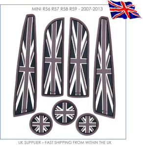 Union Jack Coasters & Cup Holders Mats Set - MINI R56 ONE COOPER S JCW - UK