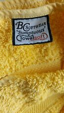 ** Towelsoft Cotton Yellow Hand & Bath Towel **