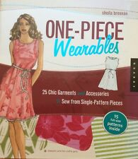 One-Piece Wearables Sewing Book By Sheila Brennan