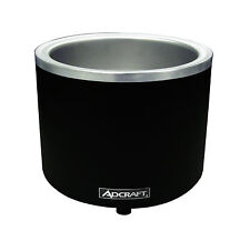 Adcraft Fw-1200Wr-B, 7/11 Qt. Round Black Food Cooker/Warmer