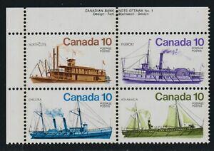 1976 Canada SC# 703a UL Inland Vessels Plate No.1 Black Color Shift M-NH # 2701