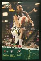 RENEE MONTGOMERY WNBA Seattle Storm Autographed Signed 10x14 Foldable Poster