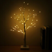 55 LEDs Birch Twig Tree Lamp Warm Light Branches Home Party Wedding