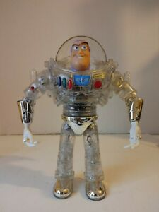 Rare Toy Story Clear Buzz Lightyear Tested works Figure Thinkway Disney Read!!