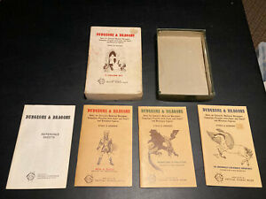 1977 Dungeons and Dragons White Box OCE 7th Printing Complete Gary Gygax