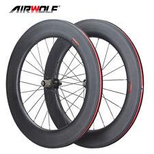 AIRWOLF 700c Carbon Road Bike Wheelset Racing Bicycle Wheels Clincher 90*25mm 3K