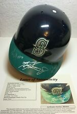 JSA ALL 3 KEN GRIFFEY JR SR CRAIG SIGNED MARINERS GAME MODEL HELMET FAMILY AUTO