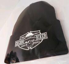 Chicano Biker l Cholo Skull  Black custom beanie