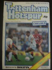 Tottenham Hotspur v Chelsea 1986-87 Official Programme