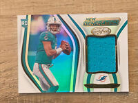 2020 Panini CERTIFIED Tua TAGOVAILOA NEW GENERATION RC JERSEY PATCH #2 Dolphins!