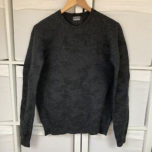 Markus Lupfer Grey Merino Wool Jumper Size M RRP £320 All Over Bat Boiled Wool