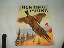 Vintage 1936 issue of Hunting and Fishing Magazine