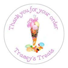 24 personnalisé stickers fait main par merci pour votre ORDRE DOUX confiserie