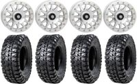 """STI HD A1 Beadlock 14"""" Wheels Machined 31"""" Chicane RX Tires Can-Am Defender"""