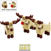 LEGO Reindeer - Pack of 3 - Lego Winter Village Rudolph Christmas Xmas