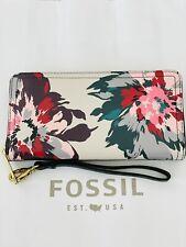 Fossil Logan RFID Zip Around Clutch Floral