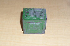 VINTAGE MINIATURE GREEN METAL C & D BATTERY TOY ADVERTISEMENT