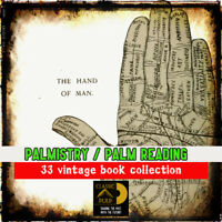 Palmistry - Palm reading - Chiromancy 33 vintage book collection, Learn fortune
